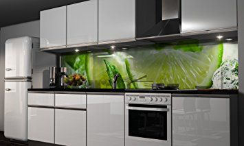 Küchenrückwand selbstklebend ~ Küchenrückwand folie grüne lemonade klebefolie spritzschutz küche