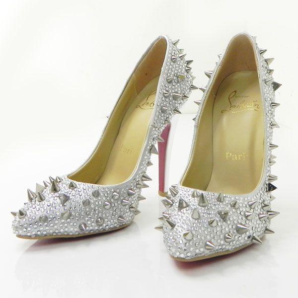 914ed1b3d4e black lou boutins diamonds and rust christian louboutin shoes size 41