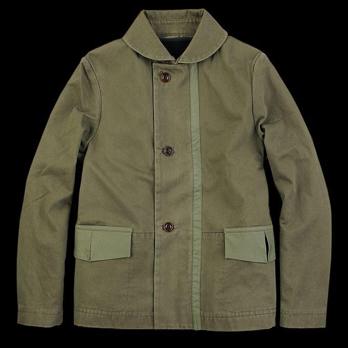 54bcd5dd8 Folk Canvas Overcoat in Field Green   Menswear   Mens clothing ...