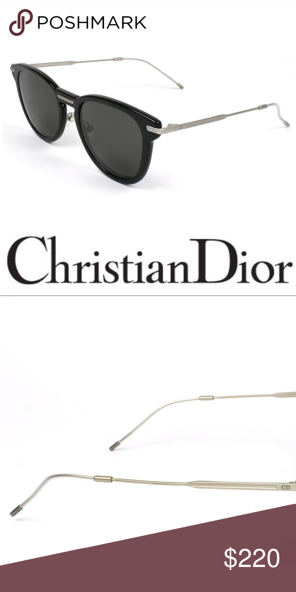 301bec318c7 NEW CHRISTIAN DIOR FRAME SUNGLASSES HAVANA SILVER New authentic men s  Christian Dior Sunglasses model DIOR-0198-FS - RMG NR