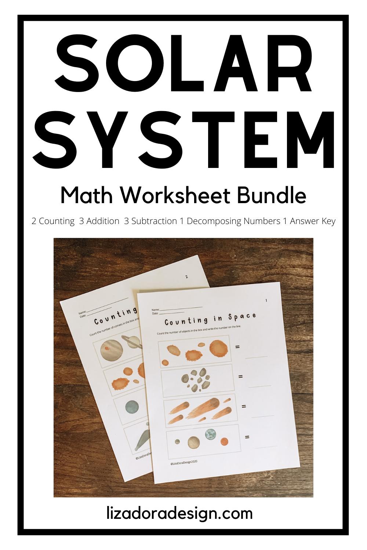 Solar System Math Worksheet Bundle Math Worksheet Kindergarten Subtraction Worksheets Solar System Worksheets [ 1500 x 1000 Pixel ]
