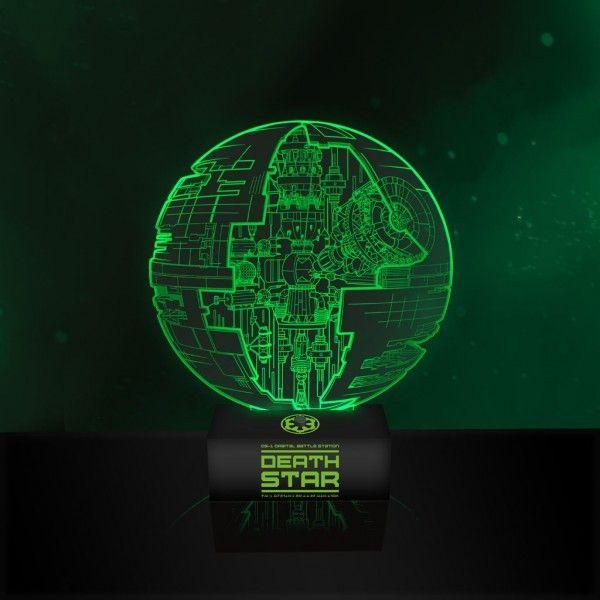 lampe mit 3d effekt star wars rogue one todesstern - Star Wars Todesstern Lampe