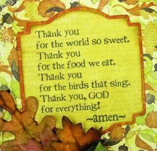 Thank you God for everything- prayer at kids' table | Prayers for children, Thanksgiving  prayer, School prayer