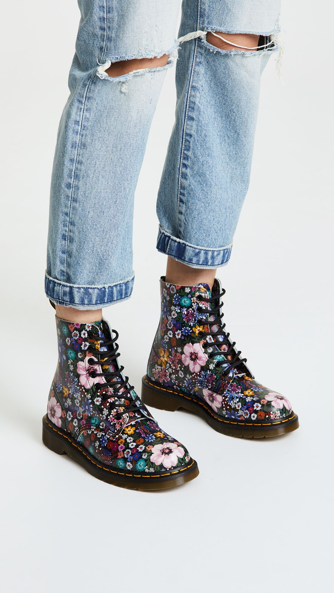details for shades of lower price with Pascal WL 8 Eye Boots   Trend FW19: Floral   Boots, Combat ...