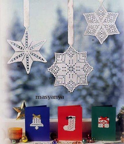 Kraina wzorów szydełkowych...Land crochet patterns..: gwiazdki