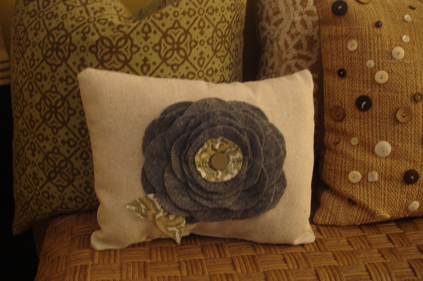 The pillow with buttons, only with my own color scheme.