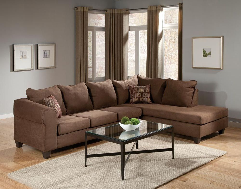 Bessey Contemporary Modern Sectional Sofa Set Chocolate