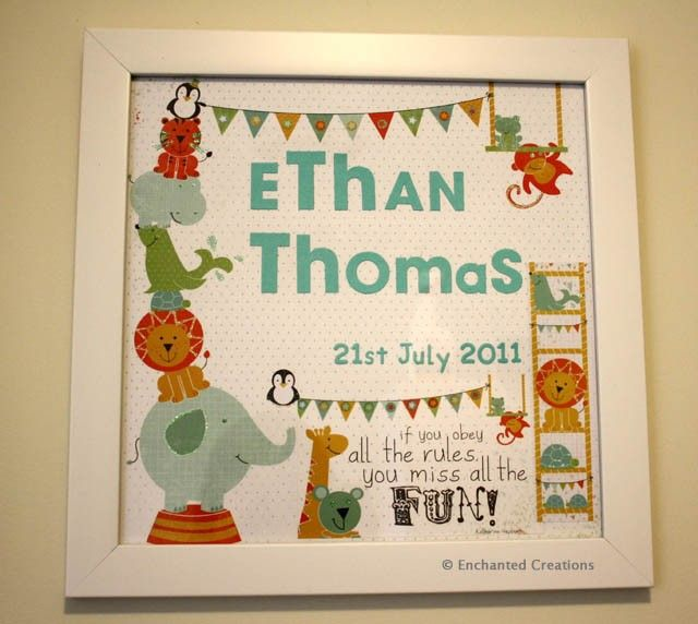 Adorable Personalised Wall Hanging
