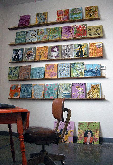 Panel Paintings On Wall In Studio By Dolan Geiman, Via Flickr