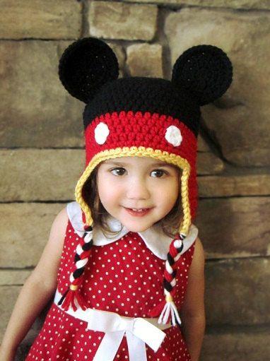 PDF Mickey ALL Sizes Crochet Hat Pattern   Pinterest   Gehäkelte ...