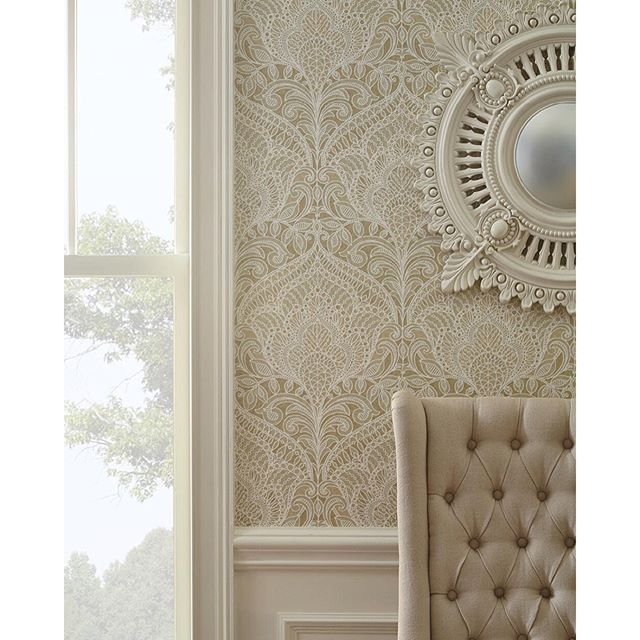Fabricut S Photo A Stylized Medallion Shape Which Echoes Back To