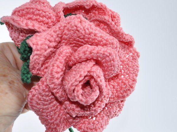 Rosen Rosenstrauß Häkelanleitung | Csipke disz | Pinterest ...