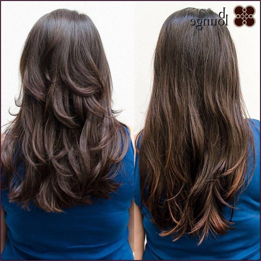9 Haarschnitte für lange dicke Haare  Frisuren lange dicke haare
