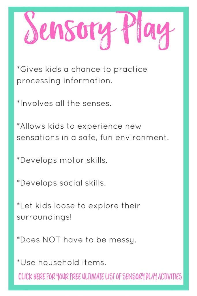 The Importance of Sensory Play Sensory play, Activities and Plays - babysitting skills