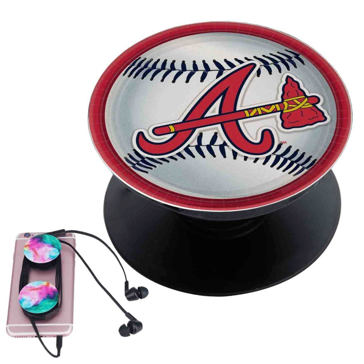 watch 89a3b f9978 Atlanta Braves MLB Custom Popsocket Pop Out Grip Stand Pop ...