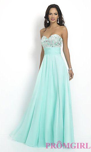 70d01a53070 Strapless Aqua Intrigue by Blush Prom Dress at PromGirl.com