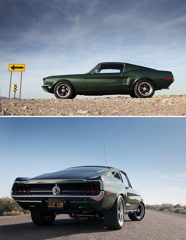 Steve McQueen Bullitt The Chase  Tee Shirt 1968 Ford Mustang  GT Fastback Green