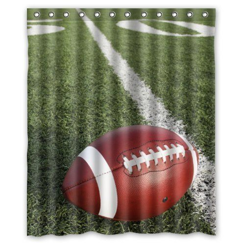 Green Football Field Pattern Polyester Fabric Custom Home Decor
