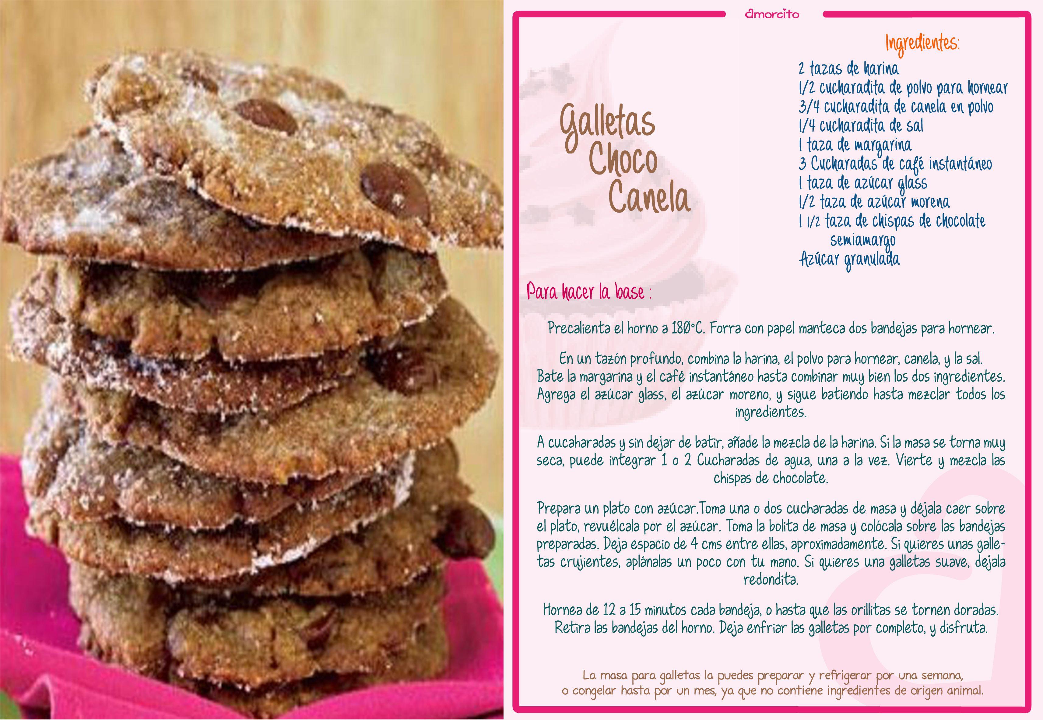 Crujientes galletas con chispas de chocolate y canela | Postre ...