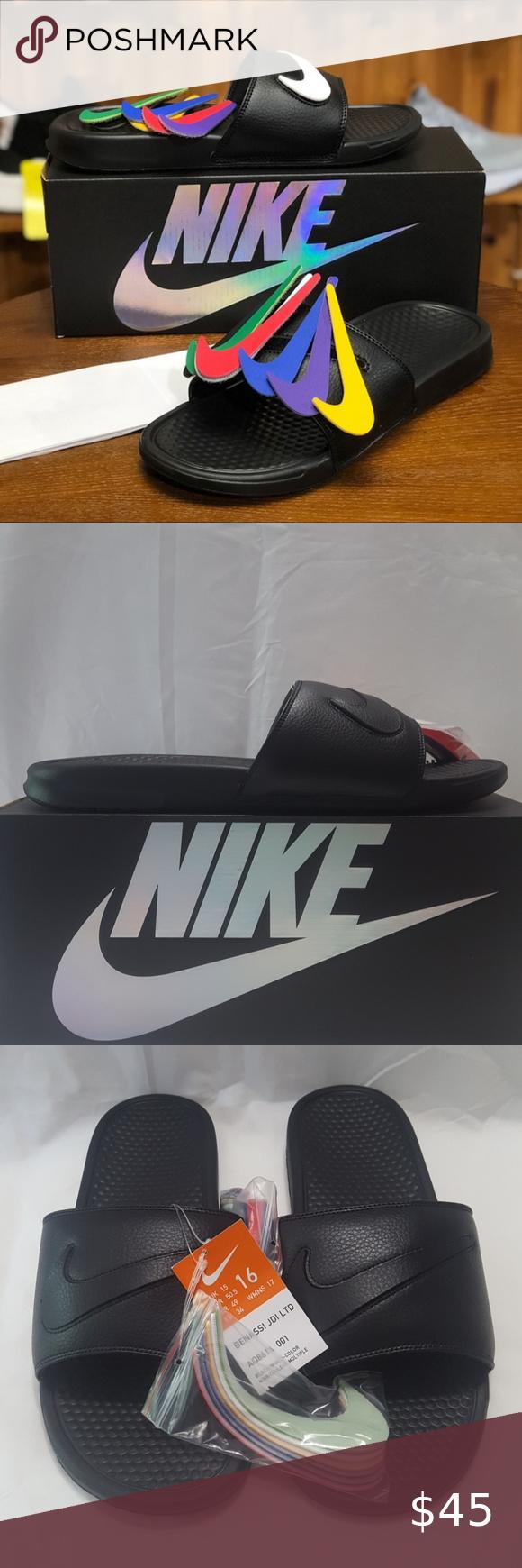 f060800503c5 New Men s Nike Benassi JDI LTD Sandal Swoosh 100% Authentic Description  Benassi  JDI LTD Sandal Condition  Brand New with Original Box Style Code  ...