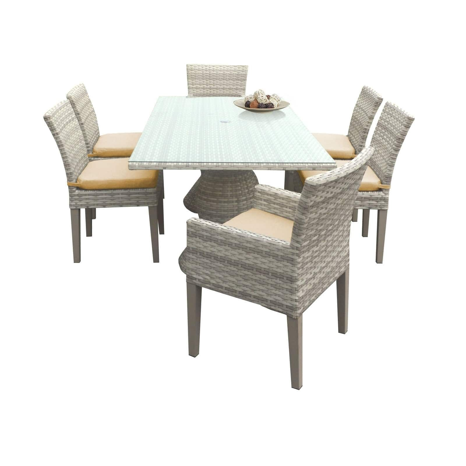 catamaran outdoor patio rectangular wicker dining table with 4 side rh co pinterest com