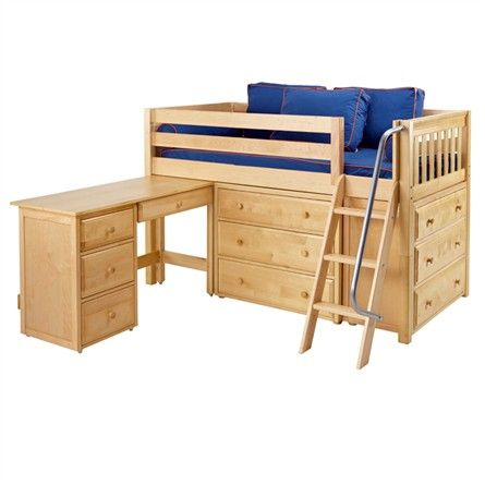 The Kicks Low Loft Bed With Dressers And Desk Is A Fun And