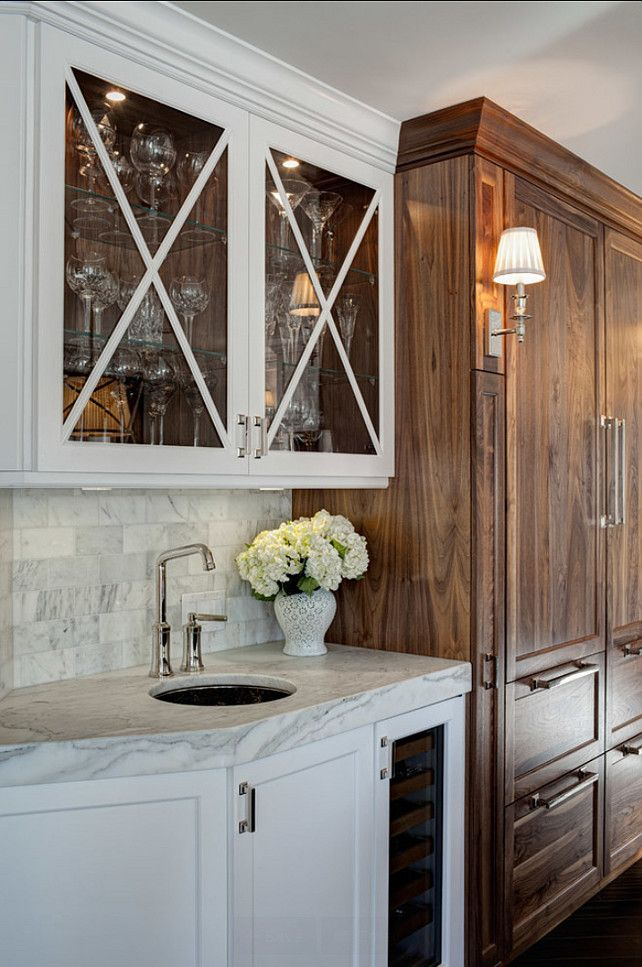 Beau Jane Kelly. Cabinets, Thick Marble, Faucet And Hardware Perfection...and I  Want That Fridge!