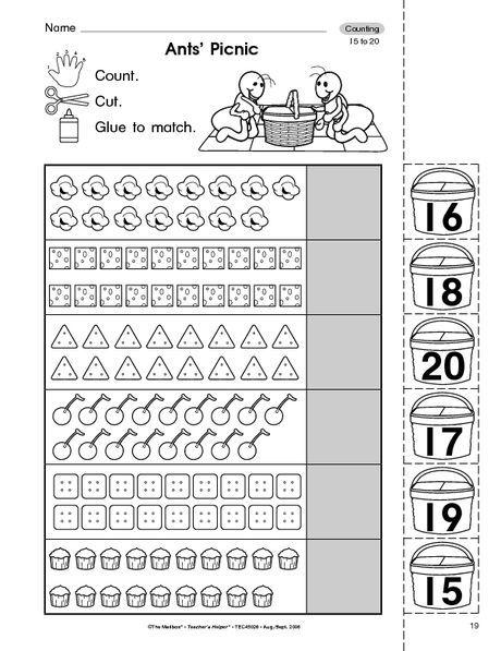 Resultado de imagen para numbers 15 to 20 | colegio | Pinterest ...