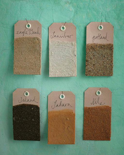 Beach Sand Memory Tags - http://www.sweetpaulmag.com/crafts/beach-sand-memory-tags #sweetpaul