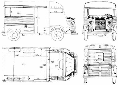 The Blueprints Com Blueprints Cars Citroen Citroen Hy Citroen H Van Citroen Type H Citroen