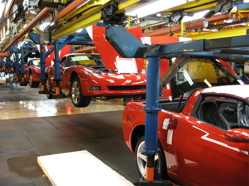 Bowling Green Assembly Plant Home Of The Corvette Red Corvette