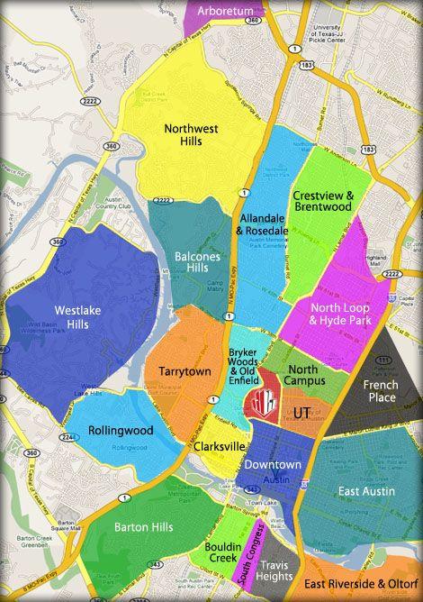Austin Tx Neighborhood Map Neighborhoods in Austin | Austin Neighborhoods in 2019 | Austin