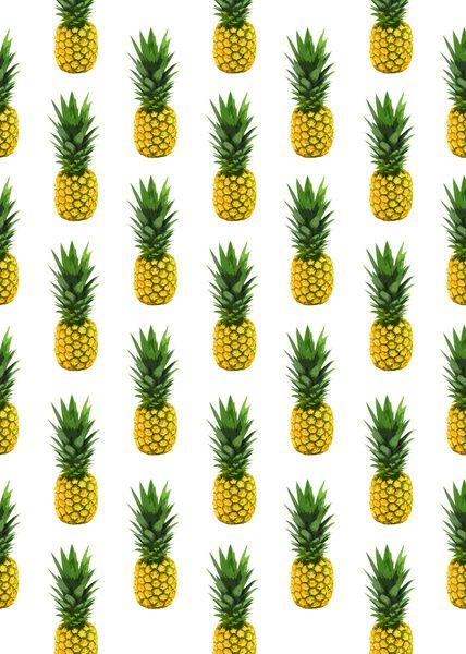 Pineapple pattern art print cool designs pinterest for Print wallpaper designs
