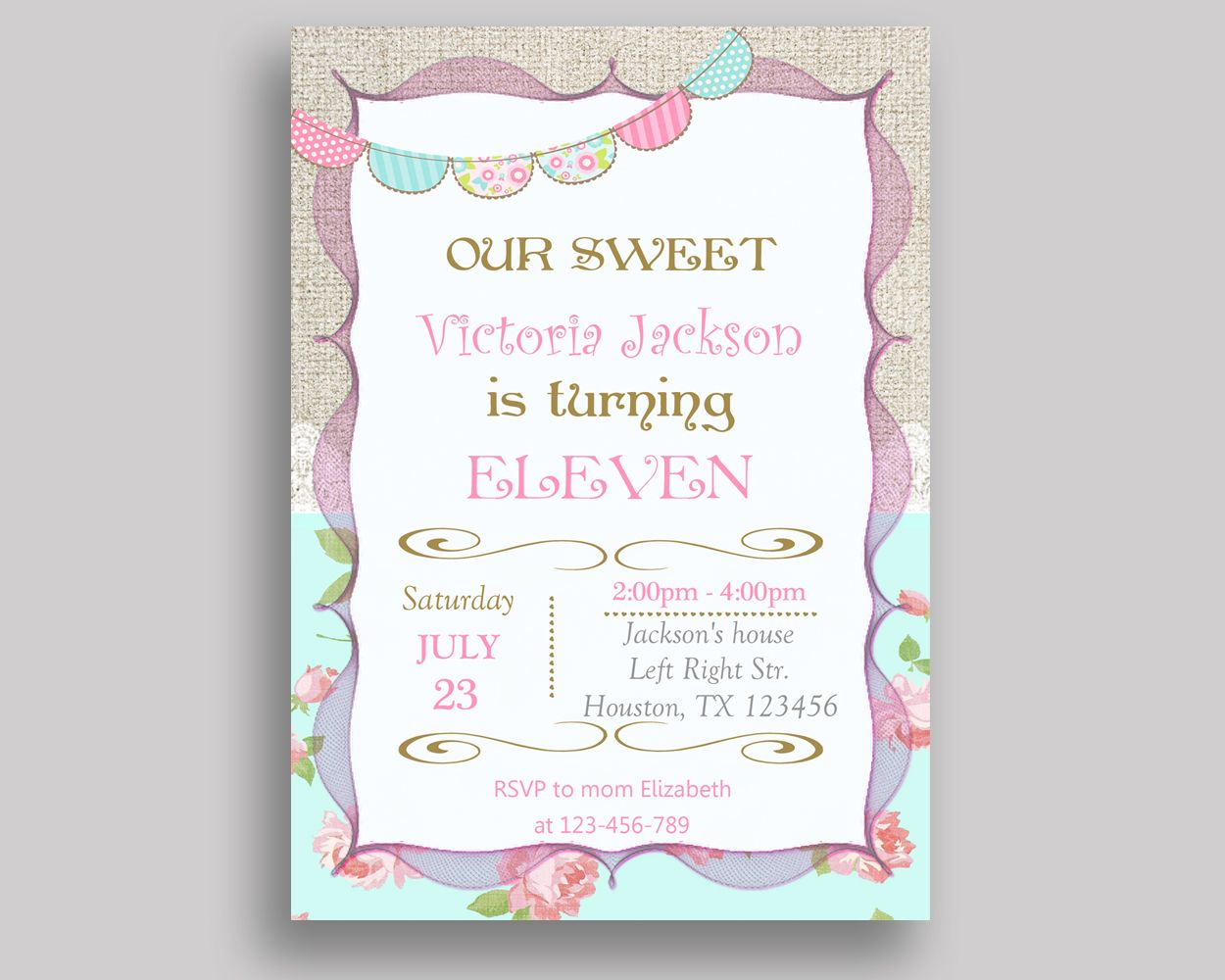 Shabby chic birthday invitation shabby chic birthday party shabbychic birthday invitation shabbychic birthday party invitation shabbychic birthday party shabbychic invitation girl burlap nue9s birthdayinvites filmwisefo