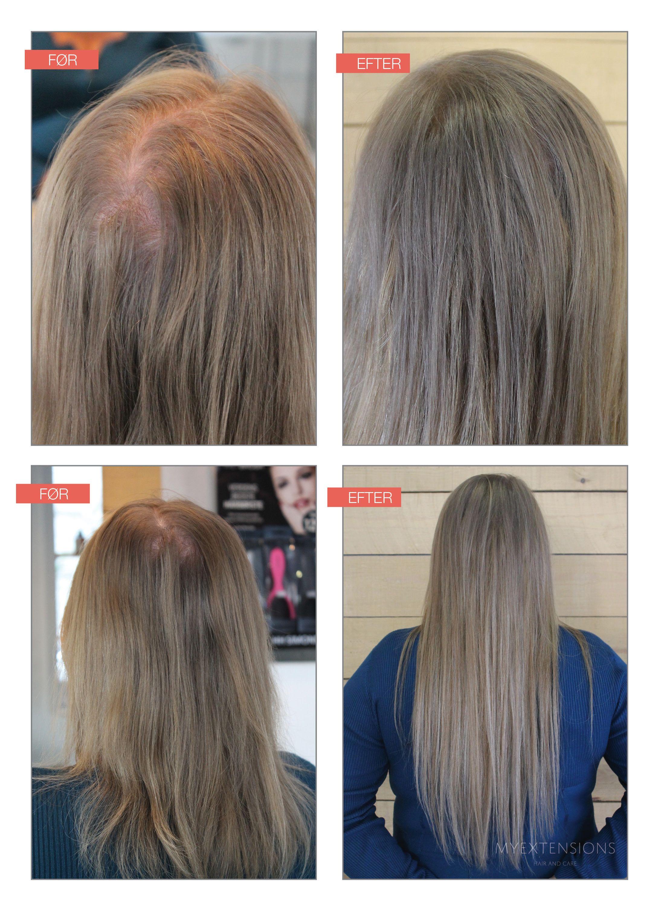 påsætning af hår extensions