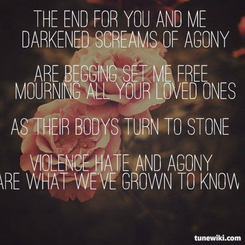 Ashes Of The Innocent By Bullet For My Valentine Bullet For My Valentine Favorite Lyrics Set Me Free
