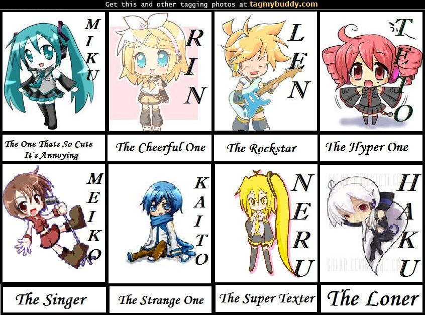 All Vocaloid Characters Names English Vocaloid Character