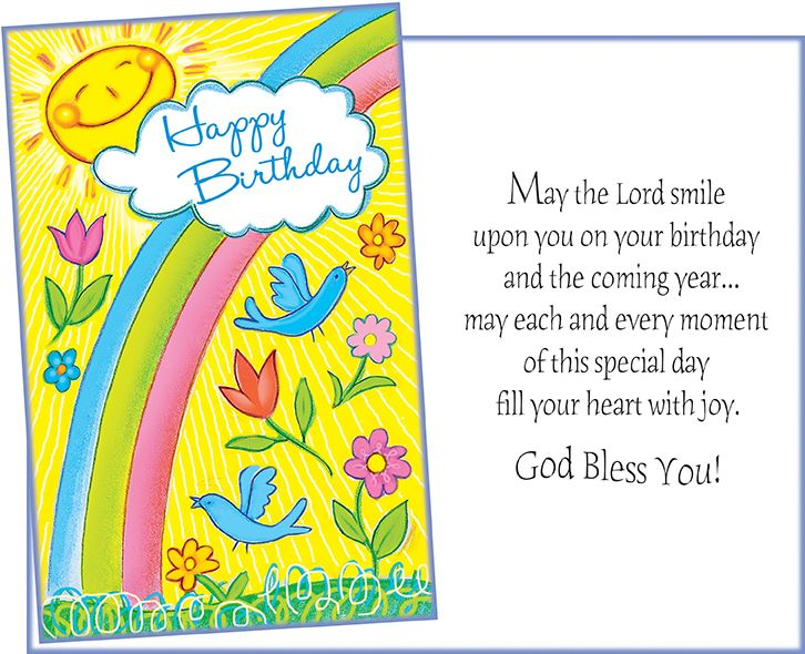 88052 Six Religious Birthday Greeting Cards With Envelopes