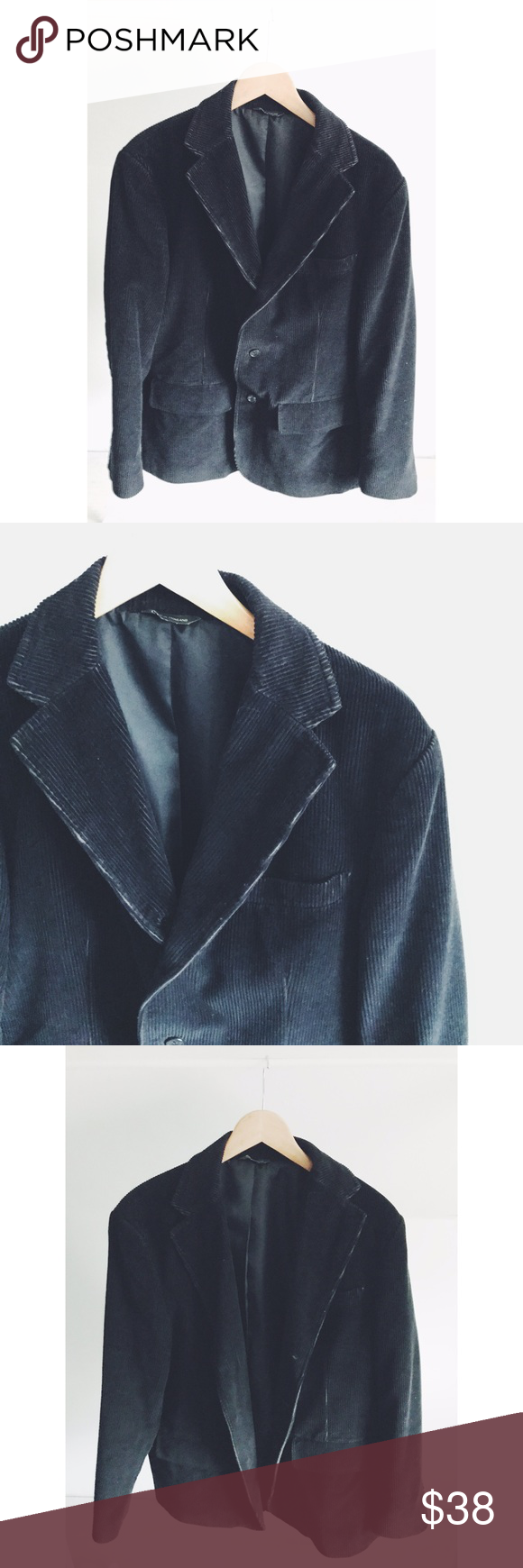 Eddie Bauer Corduroy Blazer Jacket Black color in a soft