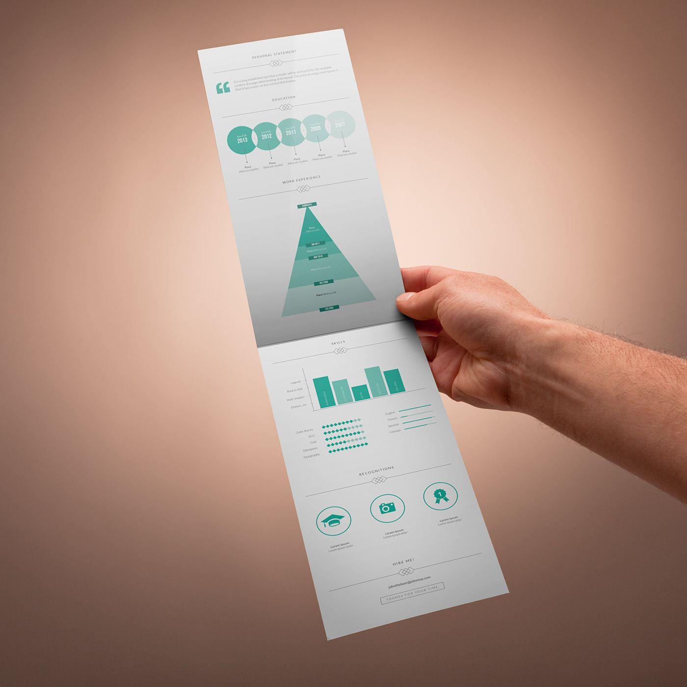 Free Resume Templates And Printing Freebie  Vertical Resume Template Cv  Pinterest  Template