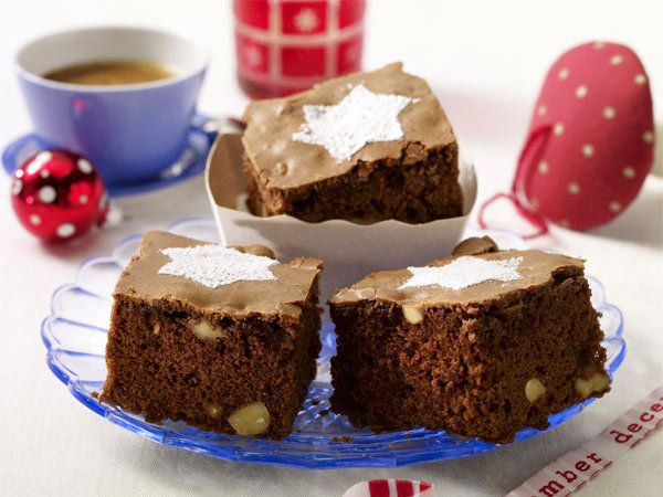 Brownies for Christmas coffee