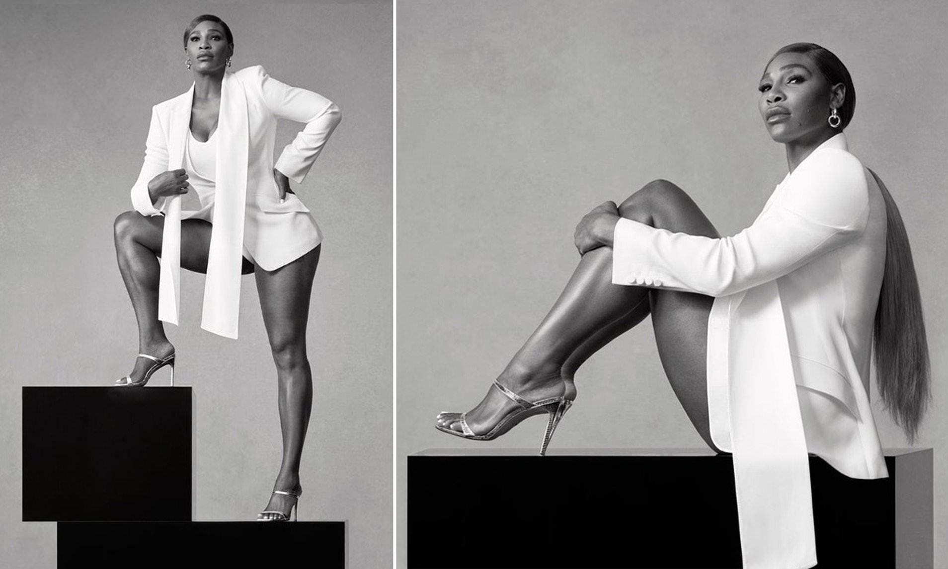 Serena Williams poses for stunning Stuart Weitzman