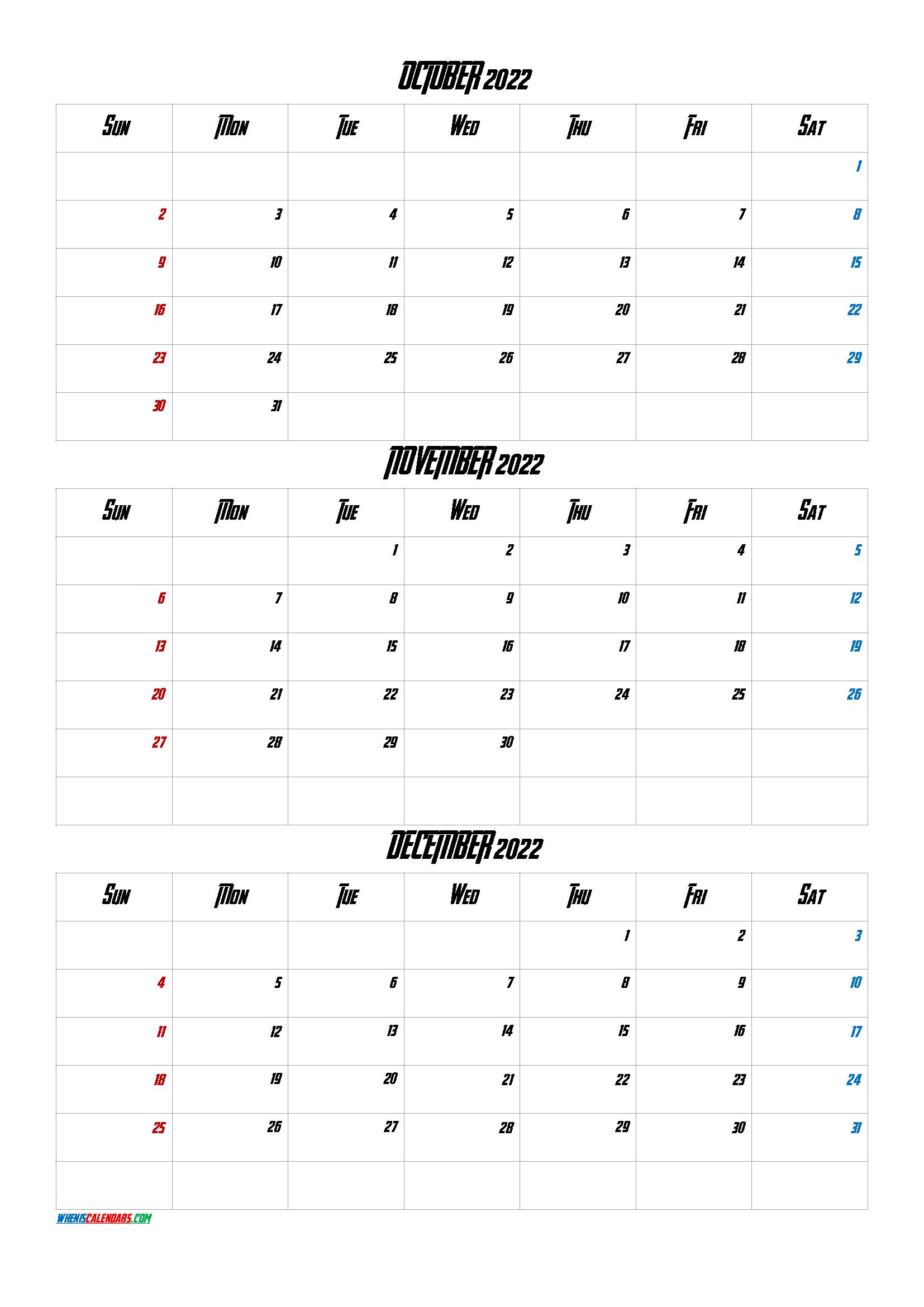 Calendar October November 2022.Printable Calendar October November December 2022 Q1 Q2 Q3 Q4 Printable Calendar July Calendar Printables September Calendar