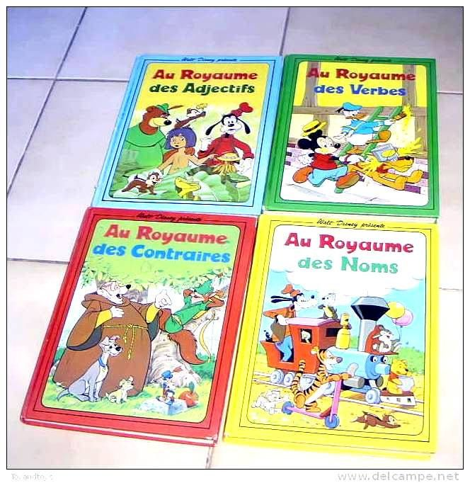 Lot De 4 Livres Educatifs De Walt Disney Au Royaume Des