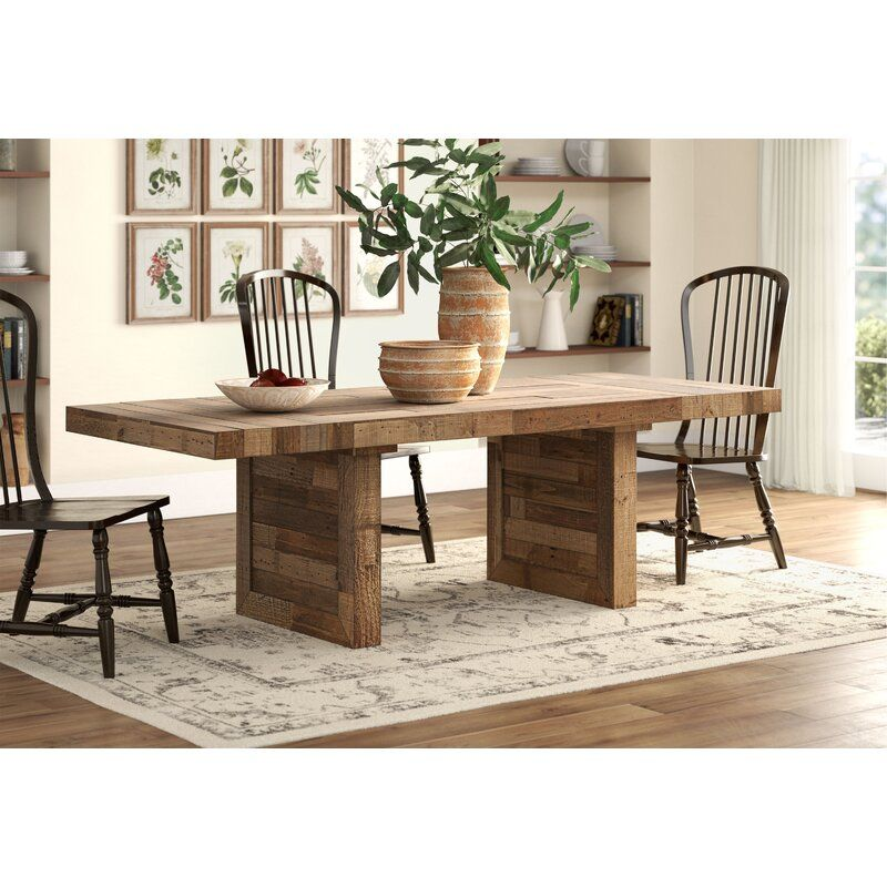 Abbey Extendable Solid Wood Dining Table In 2020 Solid Wood Dining Table Wood Dining Table Dining Table