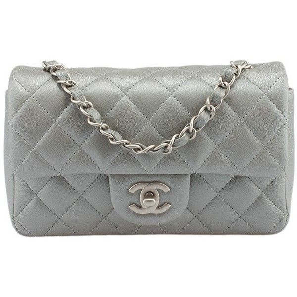 Pre-owned Chanel Mini Silver Quilted Lambskin Leather Shoulder Bag ( 2,800)  ❤ liked on Polyvore featuring bags, handbags, shoulder bags, chain shoulder  bag ... cecf598f1a