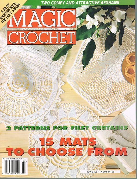 June 1997 Magic Crochet Magazine 108 Doily Crochet