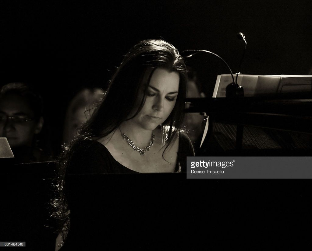 Recording artist Amy Lee of Evanescence performs as the band kicks off its tour in support of the upcoming album 'Synthesis' at The Pearl concert theater at Palms Casino Resort on October 14, 2017 in Las Vegas, Nevada.