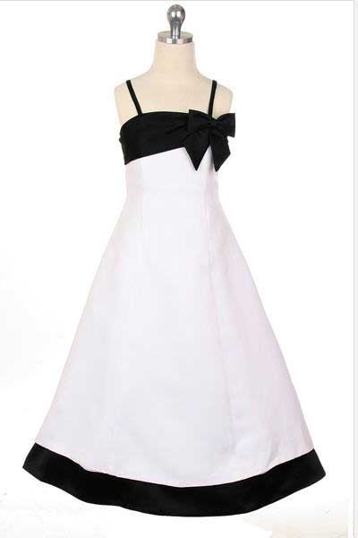 Bow Accented A-Line Satin Dress w/ Lace Up Back