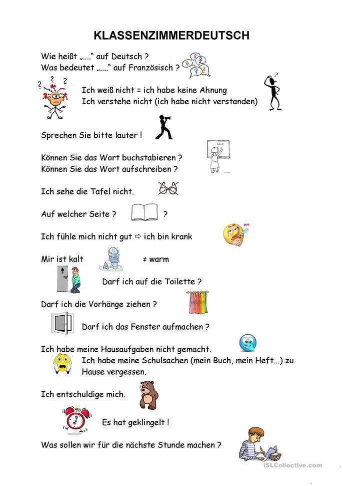 Kennenlernen deutschunterricht